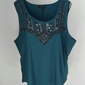 Jessica Simpson Bead Embellished Top